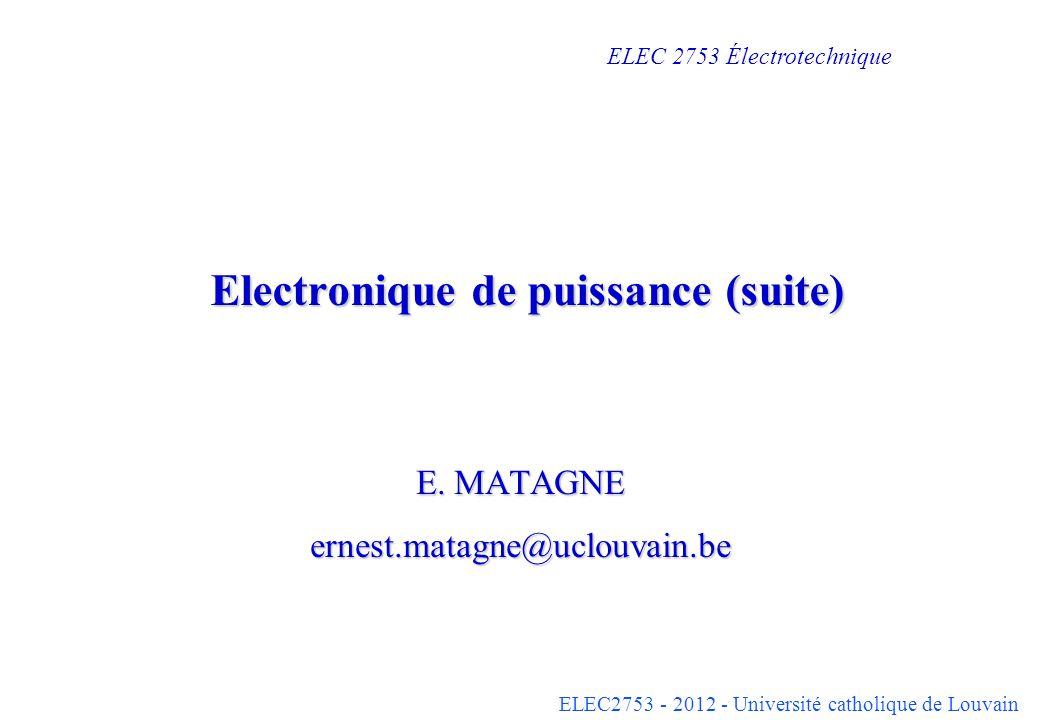 Electronique de puissance (suite)
