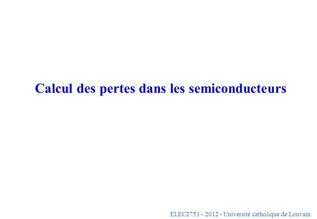 Calcul des pertes dans les semiconducteurs