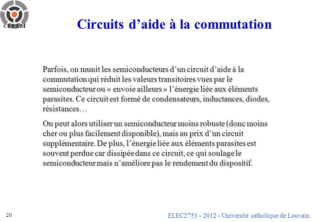 Circuits d'aide à la commutation