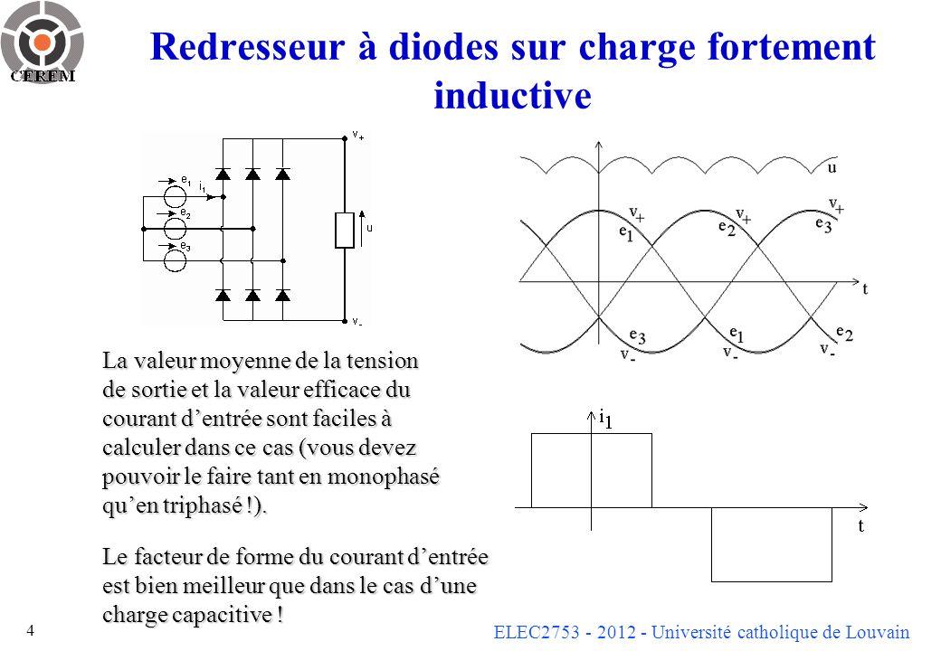 Redresseur à diodes sur charge fortement inductive