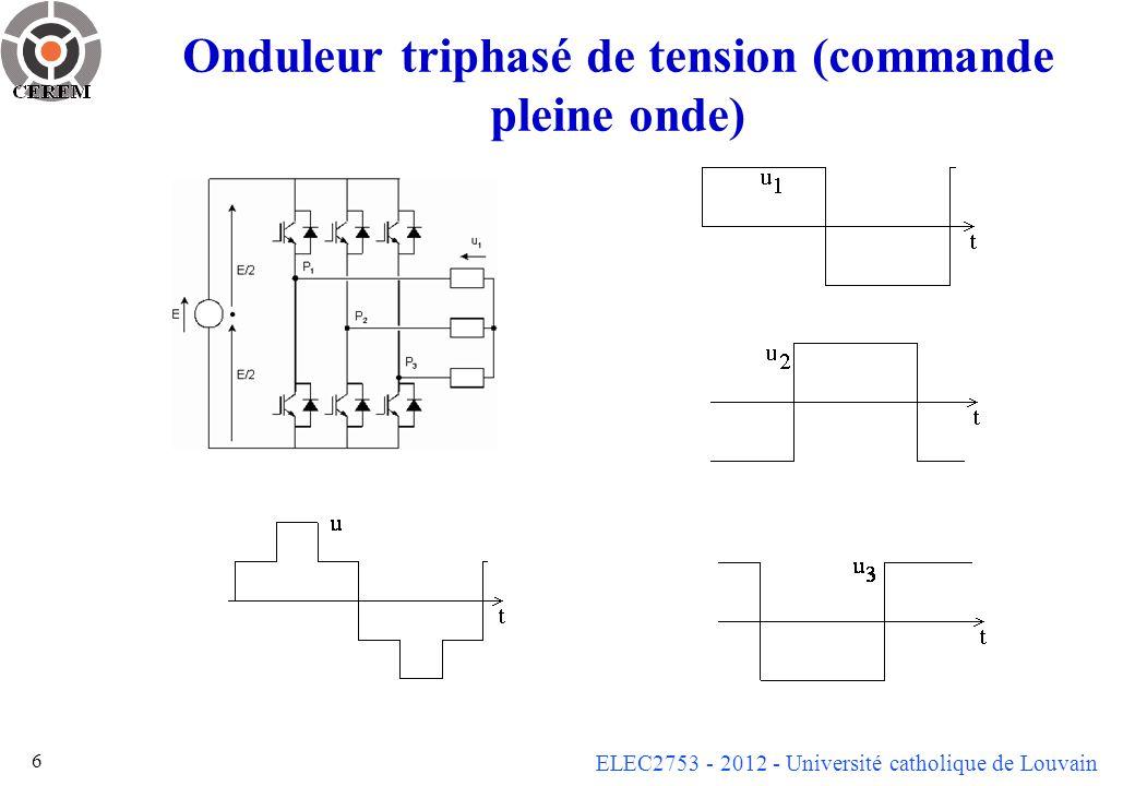 Onduleur triphasé de tension (commande pleine onde)