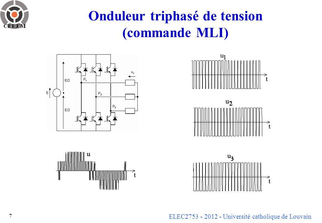 Onduleur triphasé de tension (commande MLI)