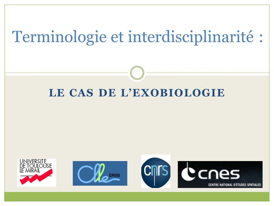 Terminologie et interdisciplinarité :
