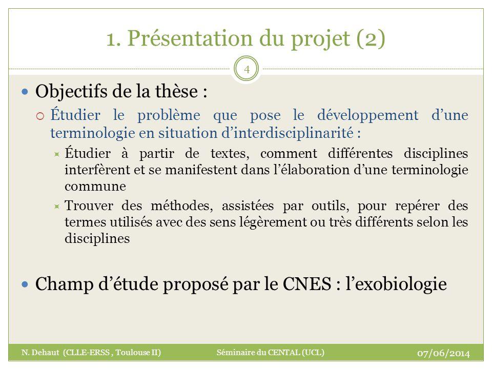 1. Présentation du projet (2)