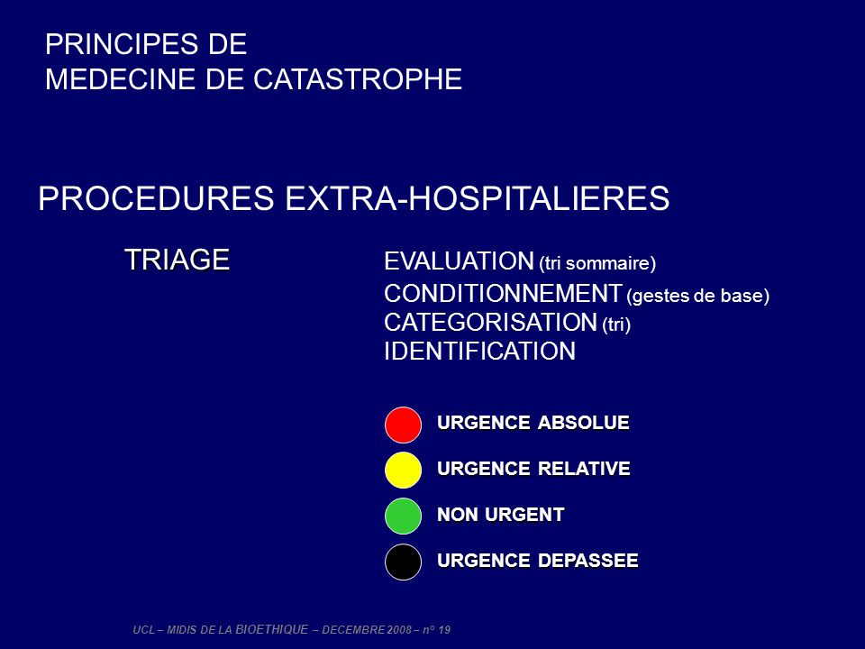 TRIAGE EVALUATION (tri sommaire)