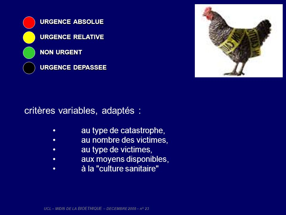 critères variables, adaptés :