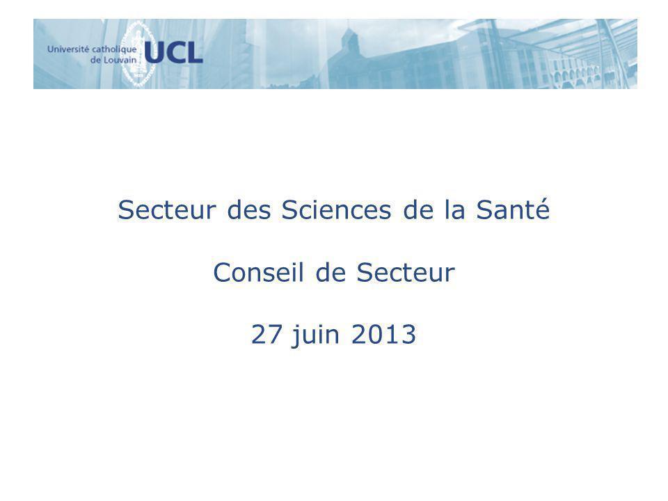 Secteur des Sciences de la Santé Conseil de Secteur 27 juin 2013