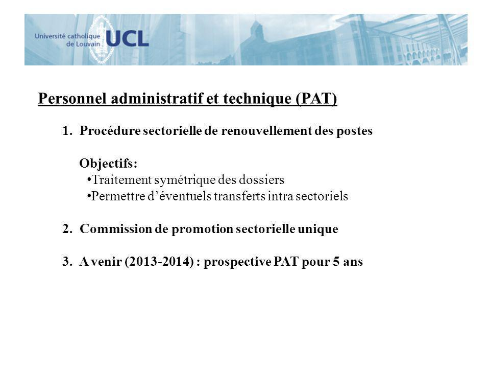 Personnel administratif et technique (PAT)