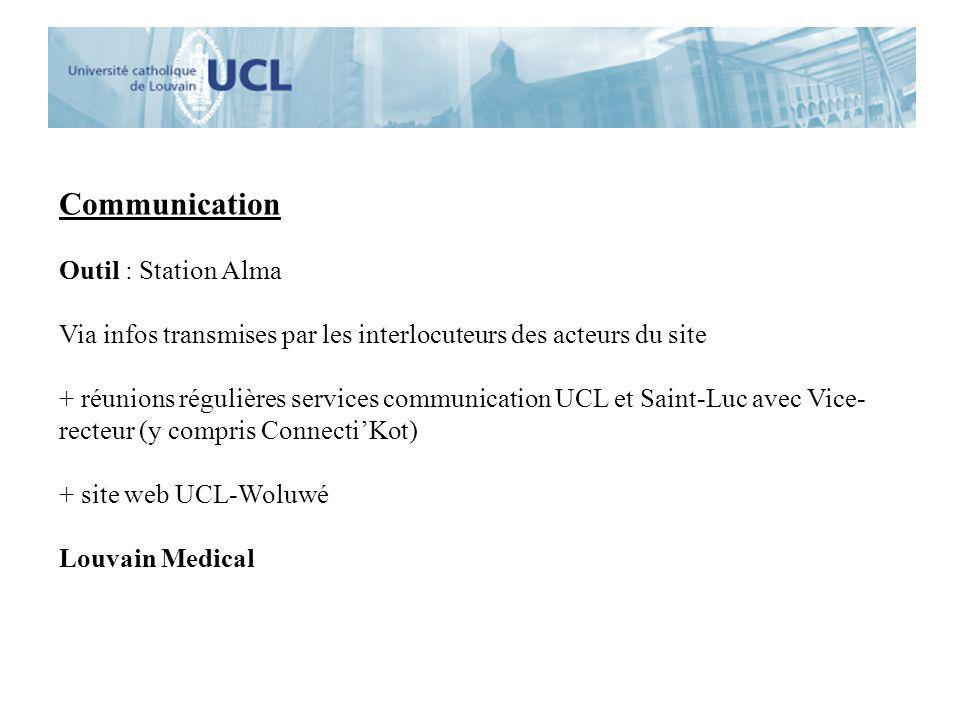 Communication Outil : Station Alma