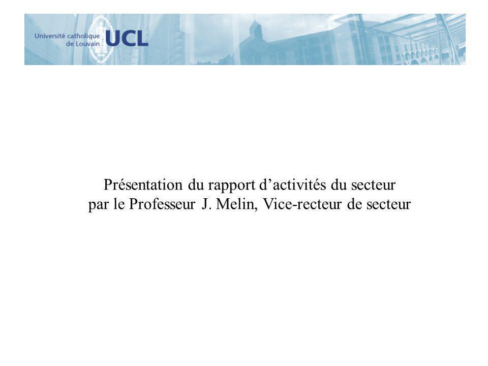 Présentation du rapport d'activités du secteur