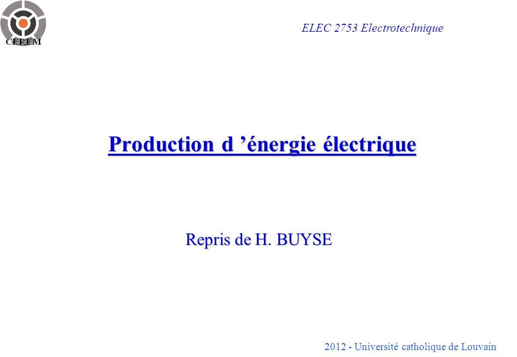 Production d 'énergie électrique