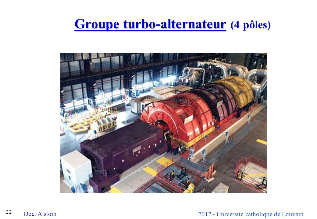 Groupe turbo-alternateur (4 pôles)