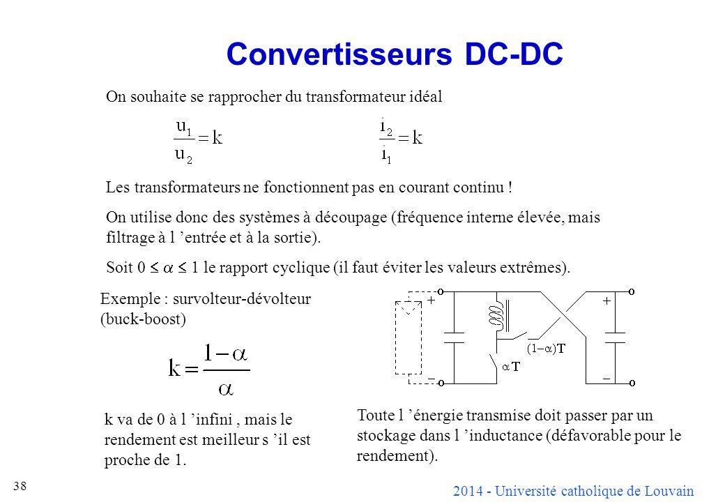 Convertisseurs DC-DC On souhaite se rapprocher du transformateur idéal