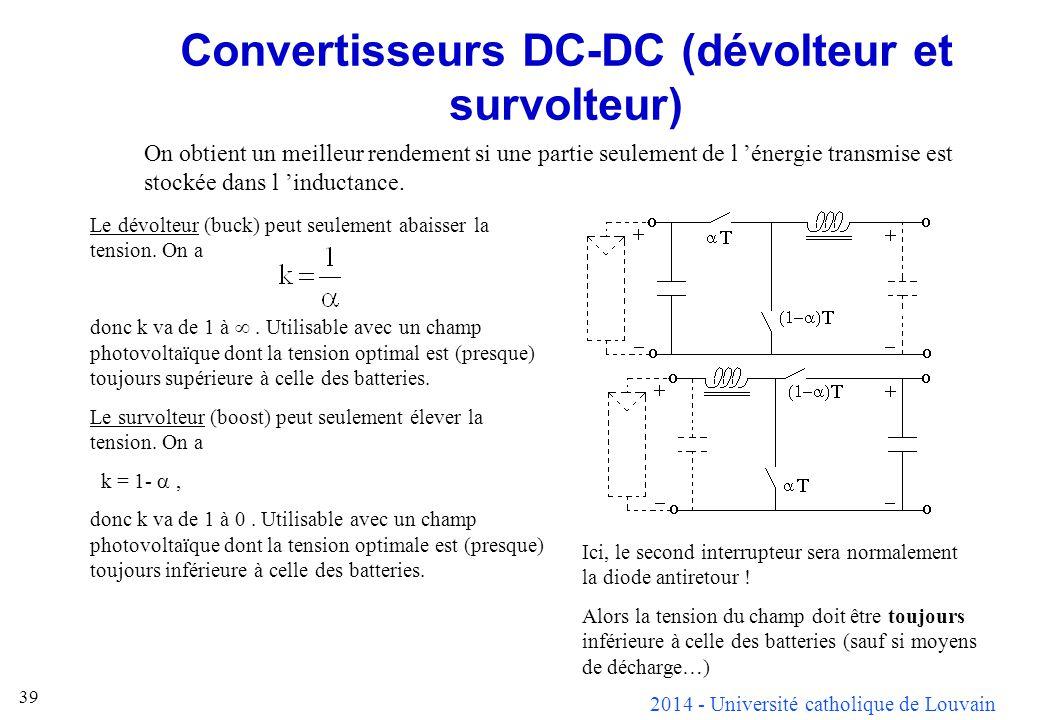 Convertisseurs DC-DC (dévolteur et survolteur)