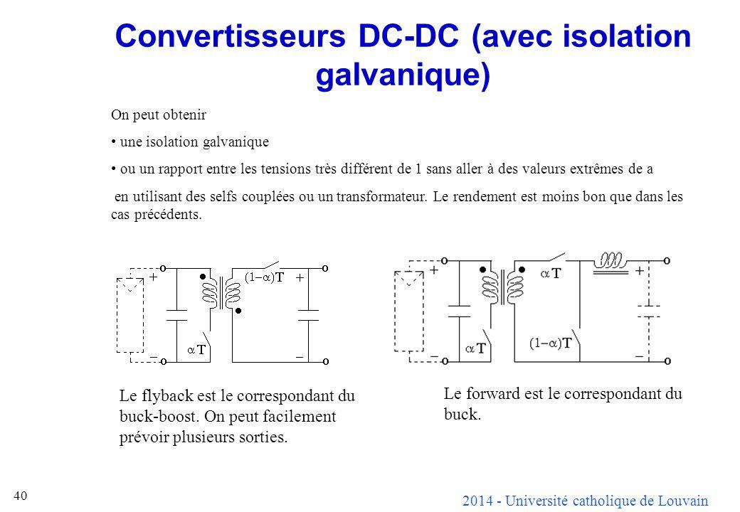 Convertisseurs DC-DC (avec isolation galvanique)