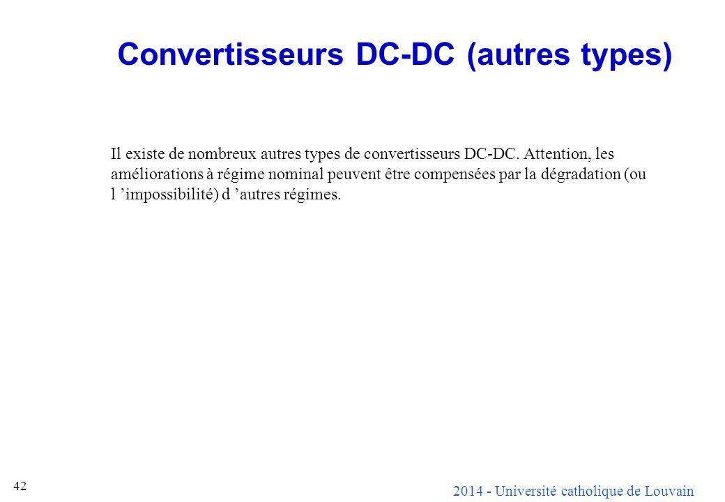 Convertisseurs DC-DC (autres types)