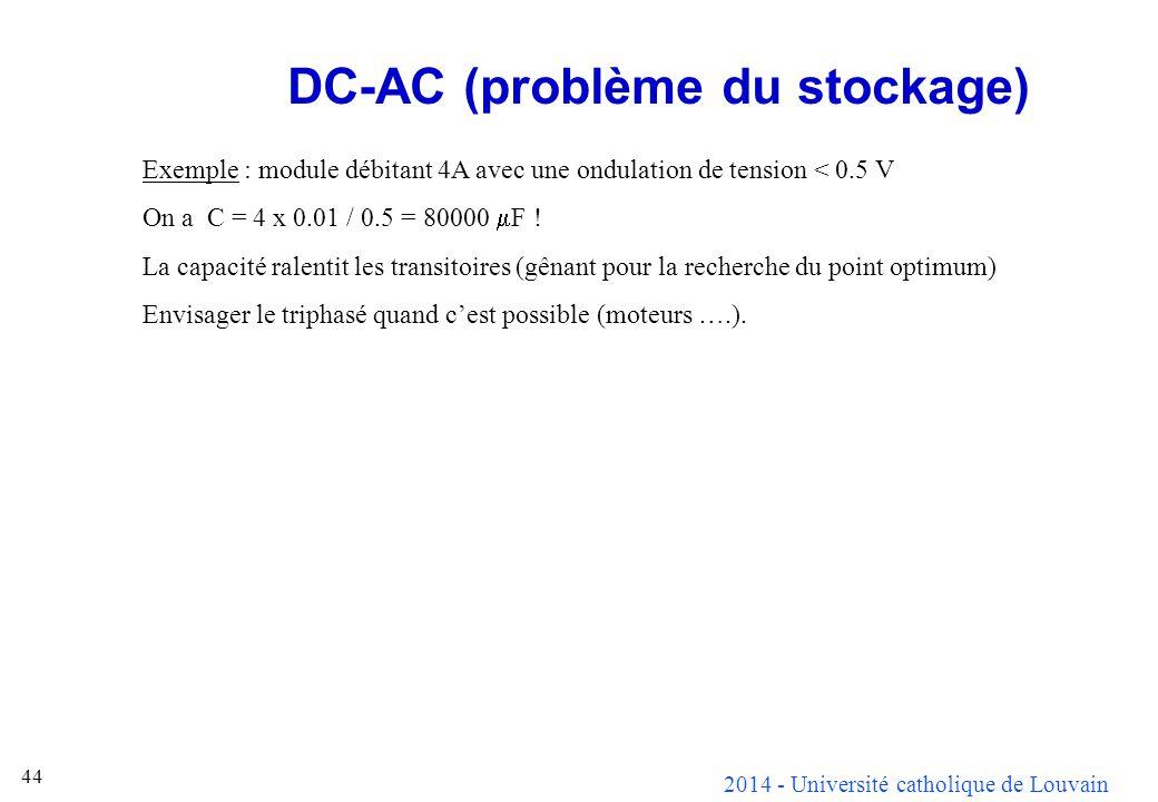 DC-AC (problème du stockage)