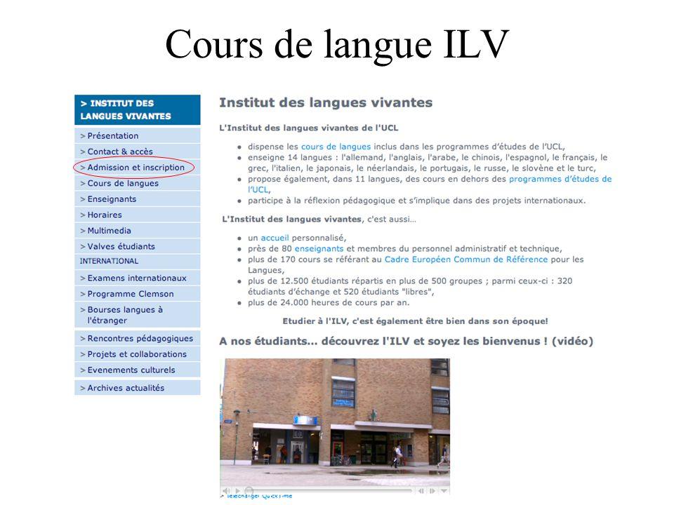 Cours de langue ILV