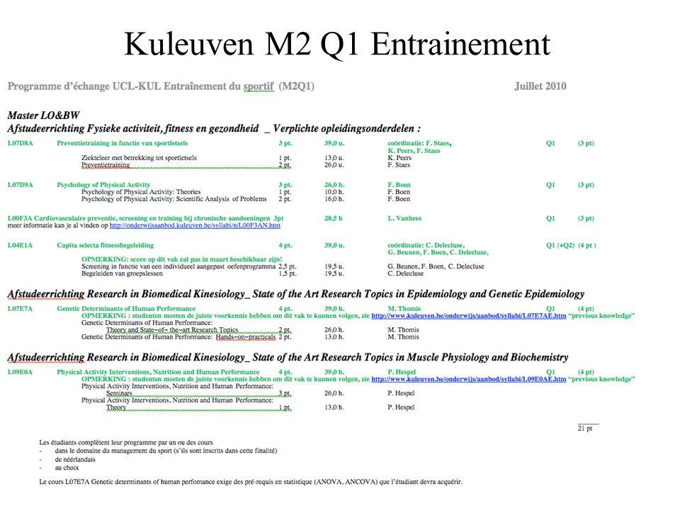 Kuleuven M2 Q1 Entrainement