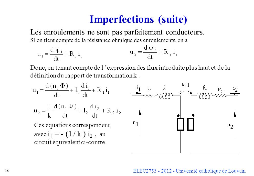 Imperfections (suite)