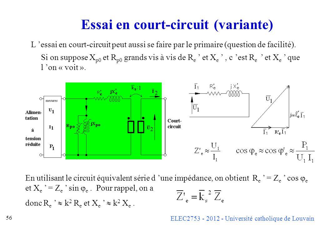 Essai en court-circuit (variante)