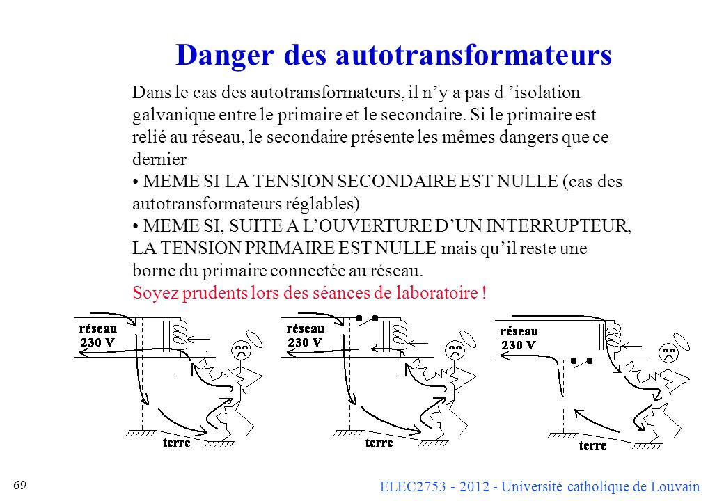 Danger des autotransformateurs