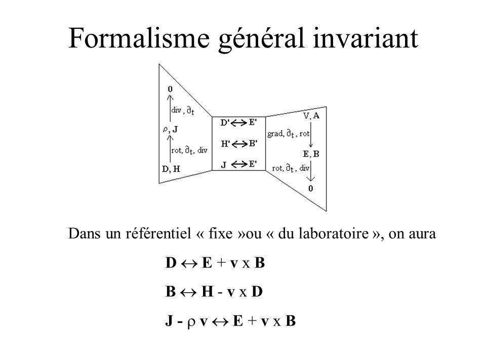 Formalisme général invariant