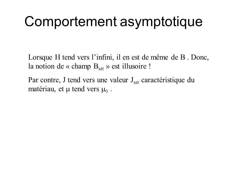 Comportement asymptotique