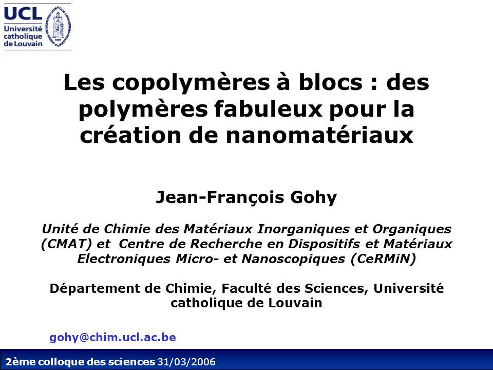 2ème colloque des sciences 31/03/2006