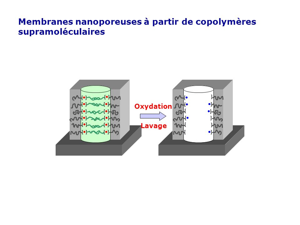 Membranes nanoporeuses à partir de copolymères supramoléculaires