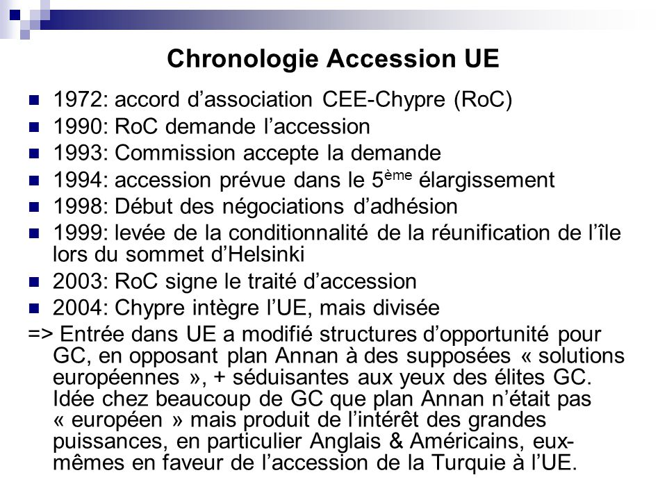 Chronologie Accession UE
