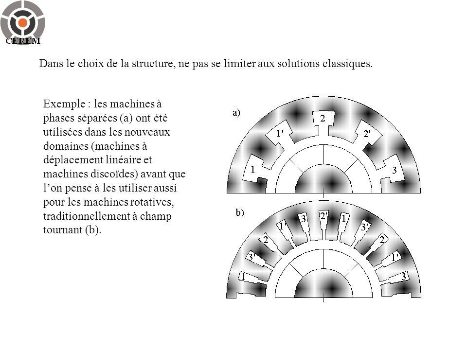 Dans le choix de la structure, ne pas se limiter aux solutions classiques.