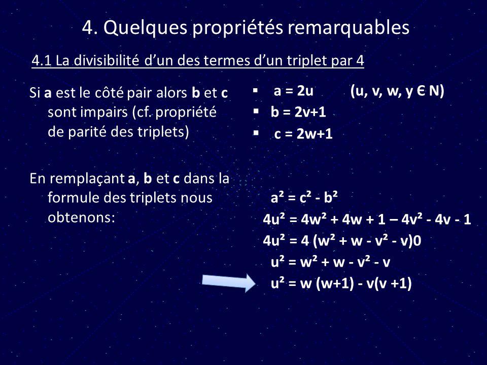 4. Quelques propriétés remarquables