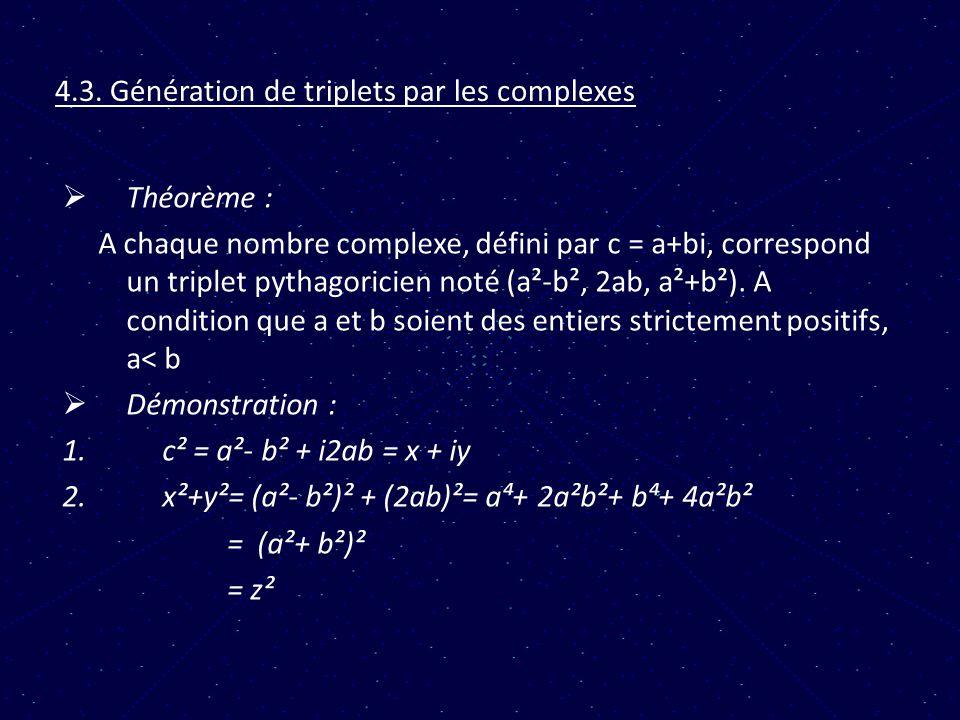 4.3. Génération de triplets par les complexes