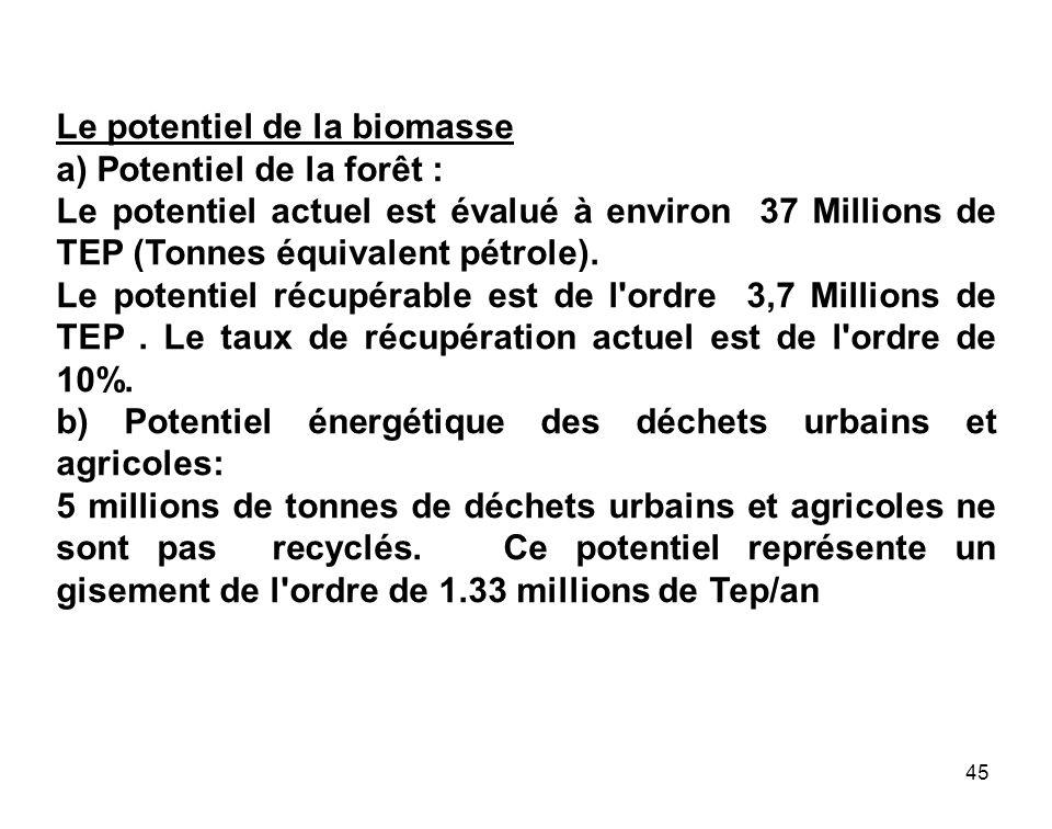 Le potentiel de la biomasse
