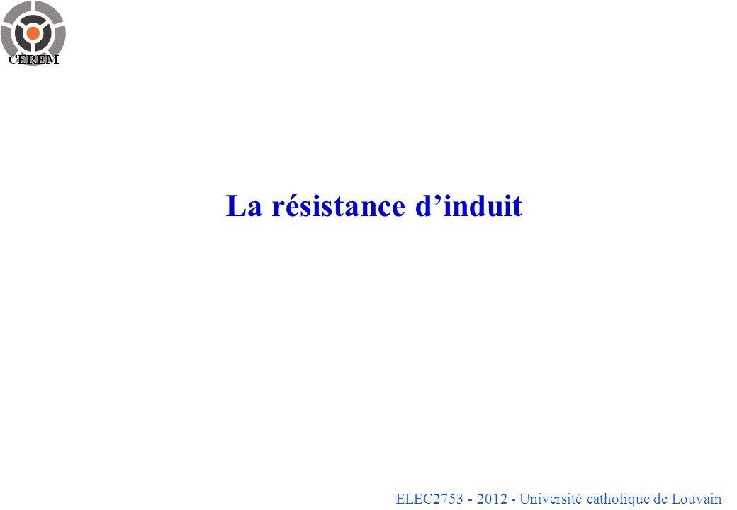 La résistance d'induit