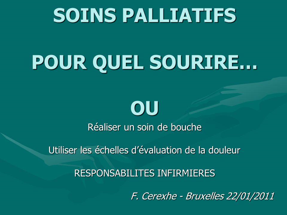 SOINS PALLIATIFS POUR QUEL SOURIRE… OU