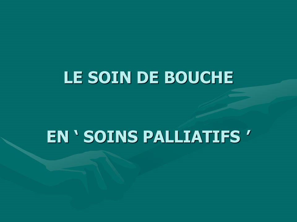 LE SOIN DE BOUCHE EN ' SOINS PALLIATIFS '