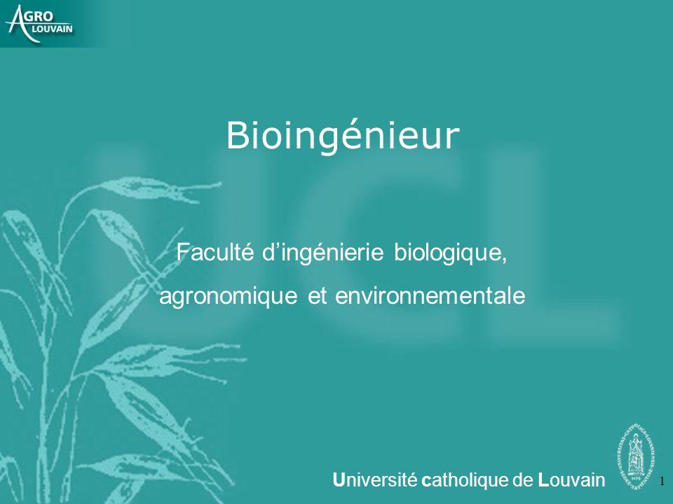 Bioingénieur Faculté d'ingénierie biologique,