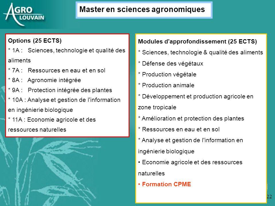 Master en sciences agronomiques