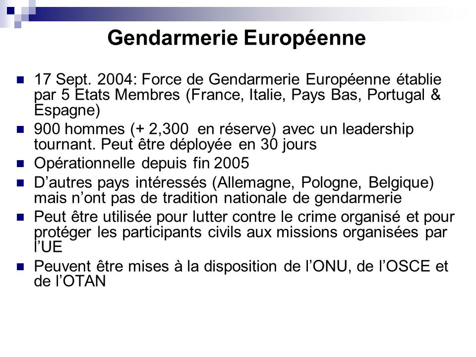 Gendarmerie Européenne