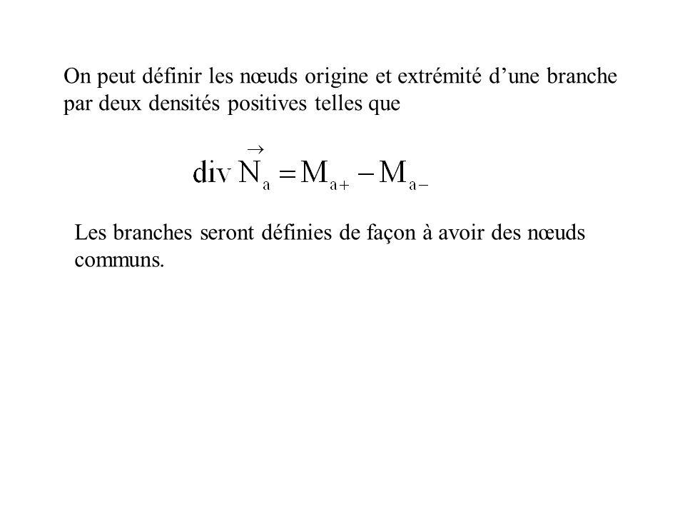 On peut définir les nœuds origine et extrémité d'une branche par deux densités positives telles que