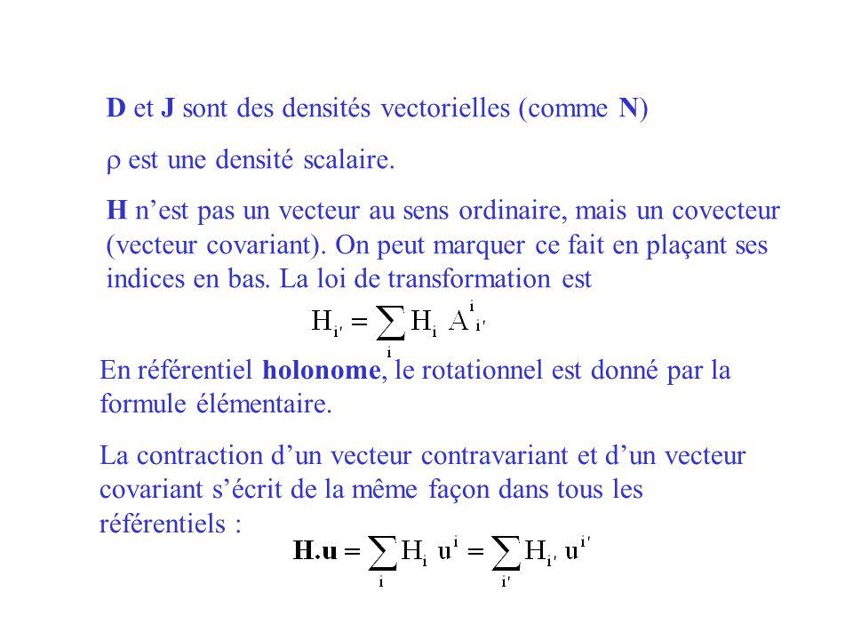 D et J sont des densités vectorielles (comme N)