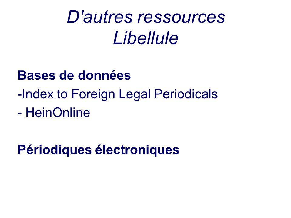 D autres ressources Libellule