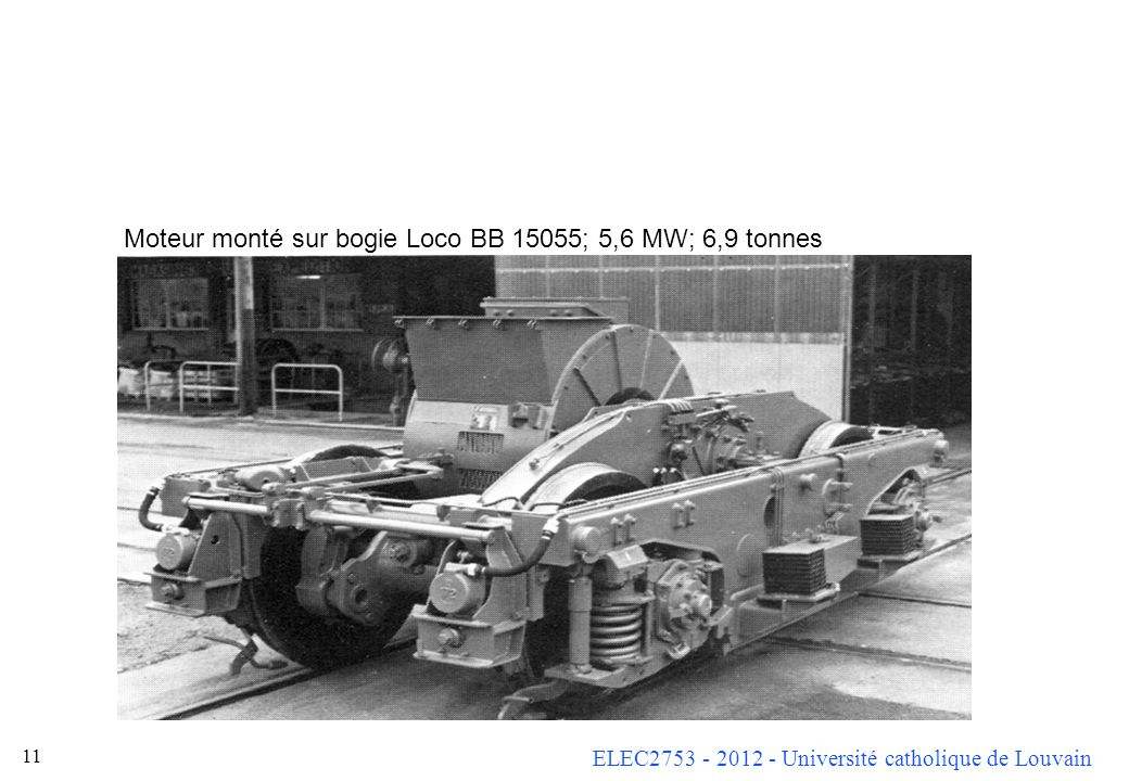 Moteur monté sur bogie Loco BB 15055; 5,6 MW; 6,9 tonnes