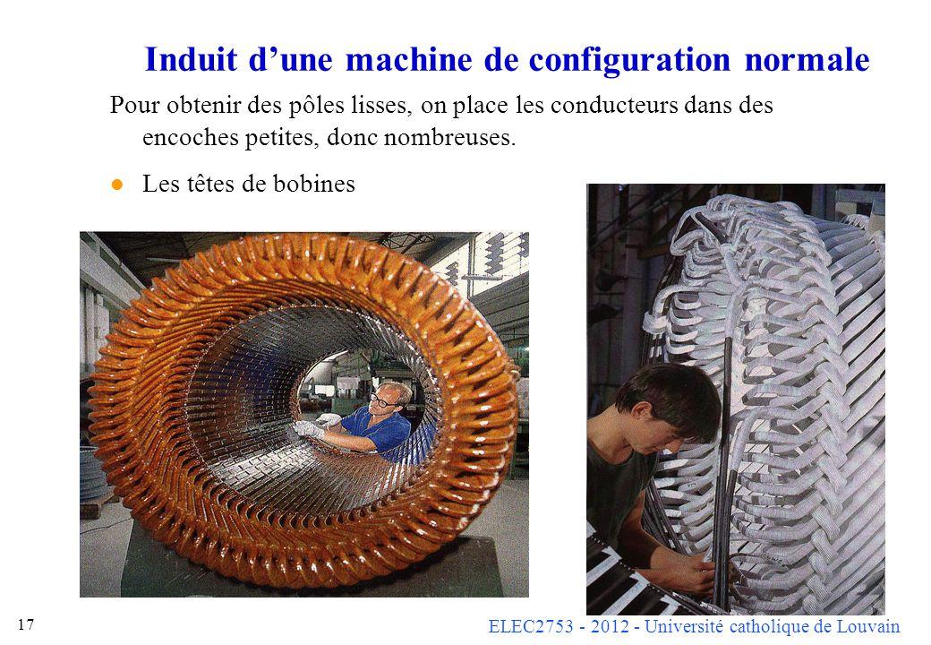 Induit d'une machine de configuration normale