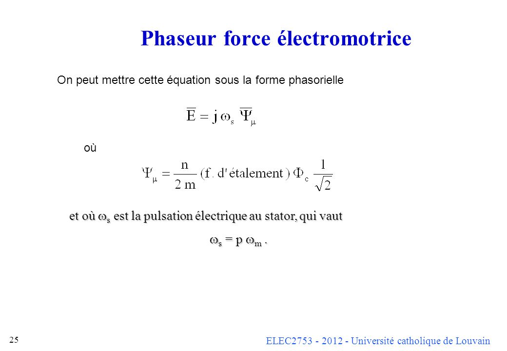 Phaseur force électromotrice