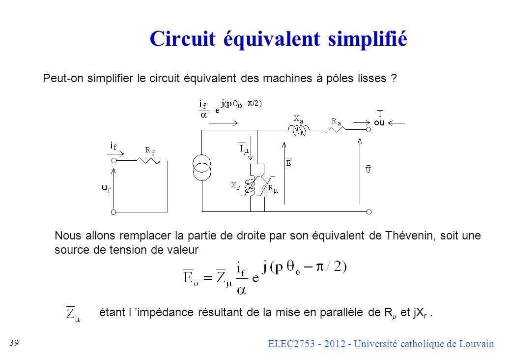 Circuit équivalent simplifié
