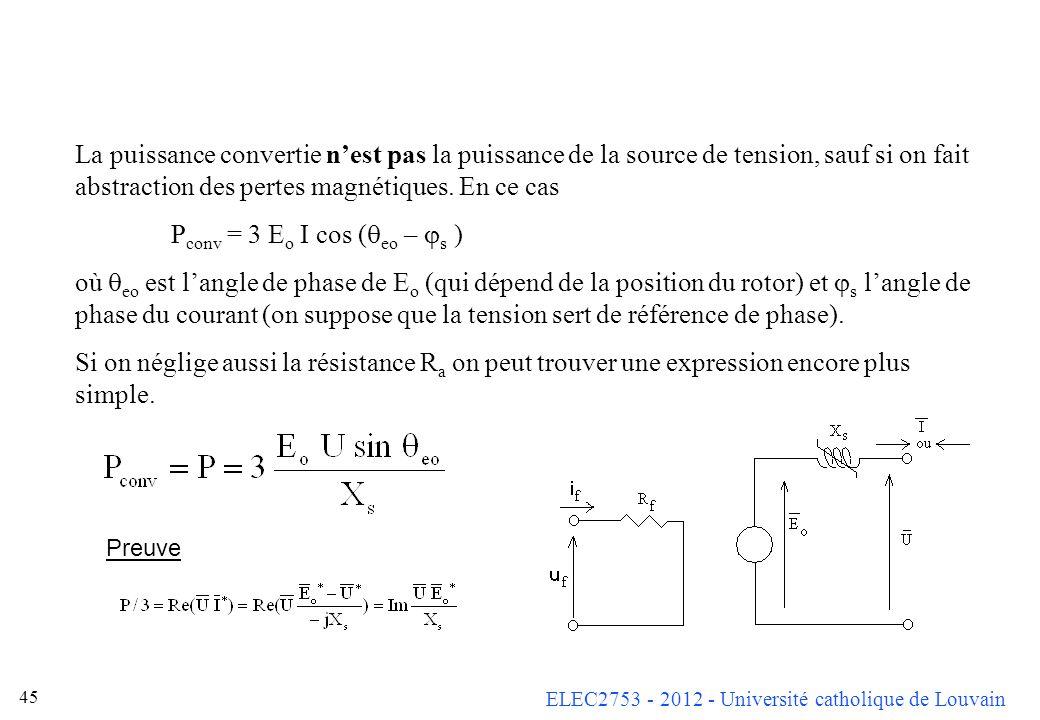 Pconv = 3 Eo I cos (qeo – js )