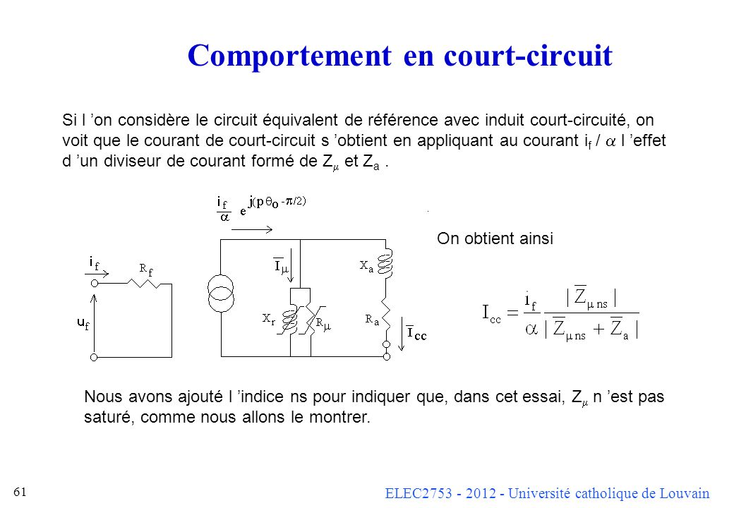 Comportement en court-circuit